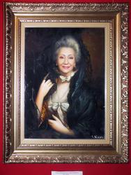 Портрет Нани Бригвадзе из серии Река времени. 2005г.