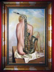 Девушка-саксофон. 2005г.