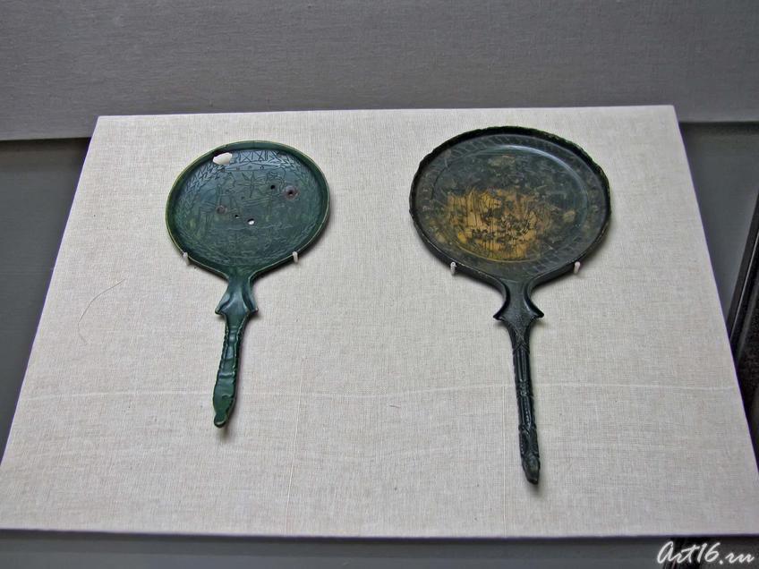 Фото №35439. Этрусское зеркало — Диоскуры /Этрусское зеркало — Суд Париса