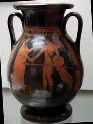 Пелика краснофигурная: Встреча Тезея и Эгея