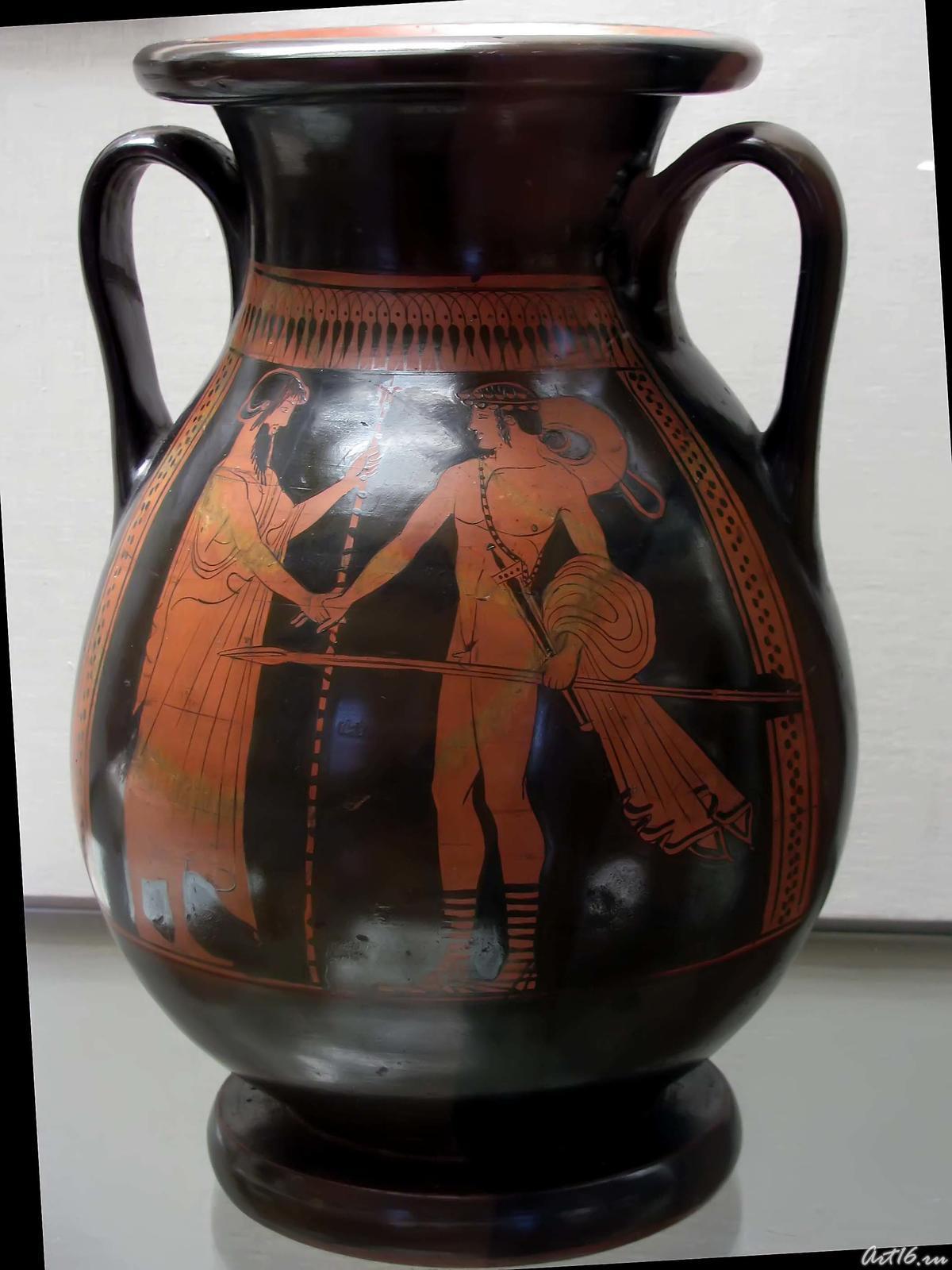 Фото №35579. Пелика краснофигурная: Встреча Тезея и Эгея