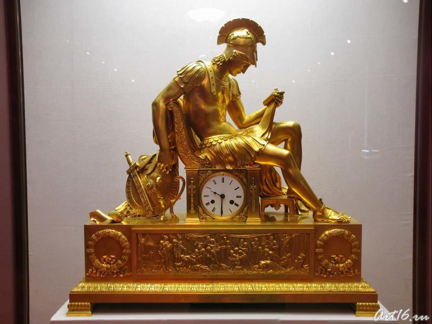 Фото №35594. Каминные часы «Бдение Александра Македонского»