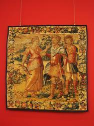 Шпалера: Одиссей и Калипсо (Мелеагр и Атланта?)