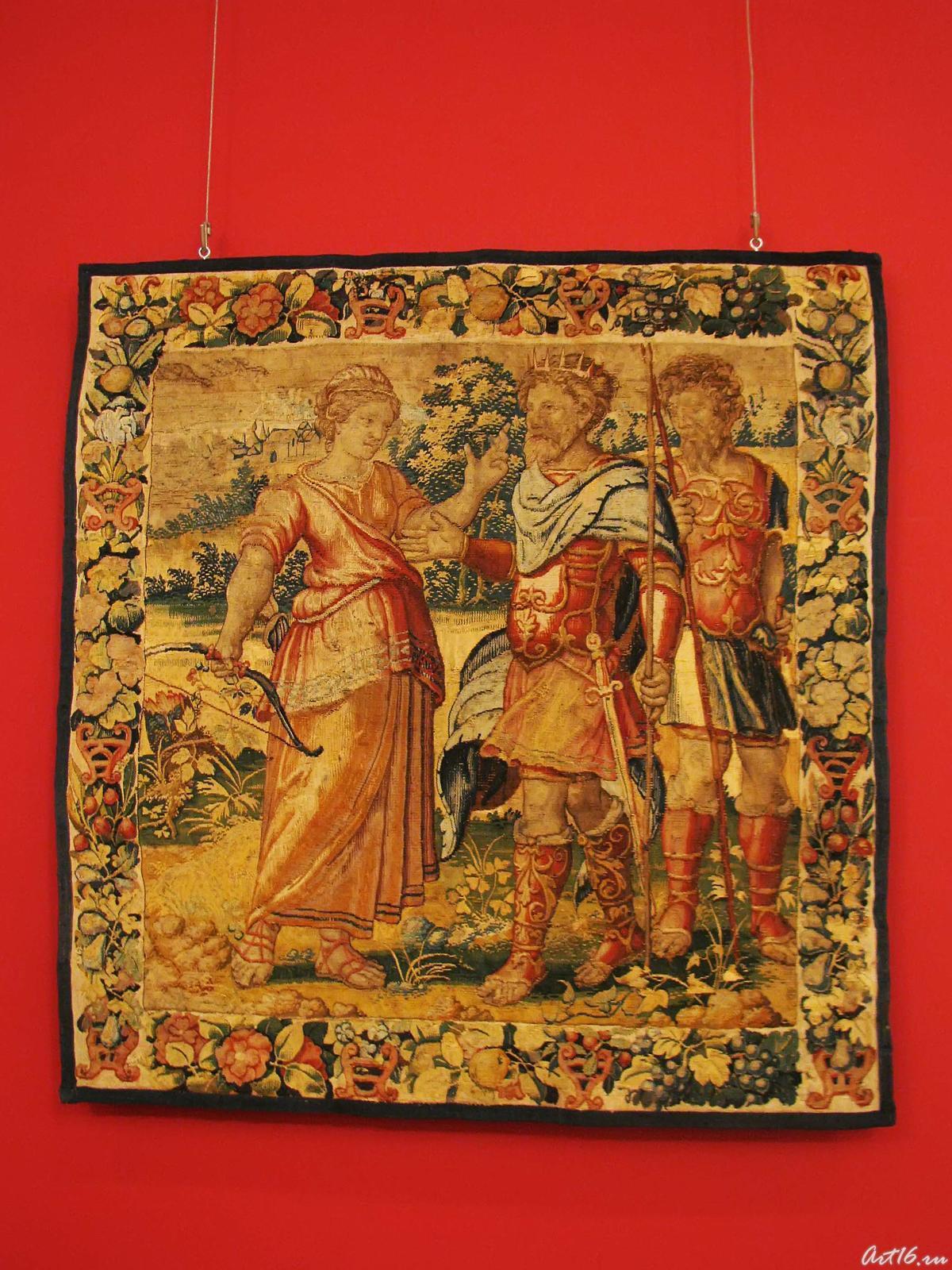 Фото №35609. Шпалера: Одиссей и Калипсо (Мелеагр и Атланта?)