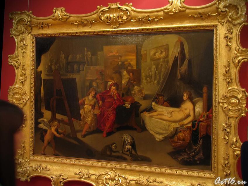 Фото №35614. Иоган Фельпахер. работал в сер. XVII в. Мастерская Апелесса (Апеллес пишет Кампаспу в присутствии Александрв Македонского).