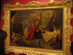 Иоган Фельпахер. работал в сер. XVII в. Мастерская Апелесса (Апеллес пишет Кампаспу в присутствии Александрв Македонского).