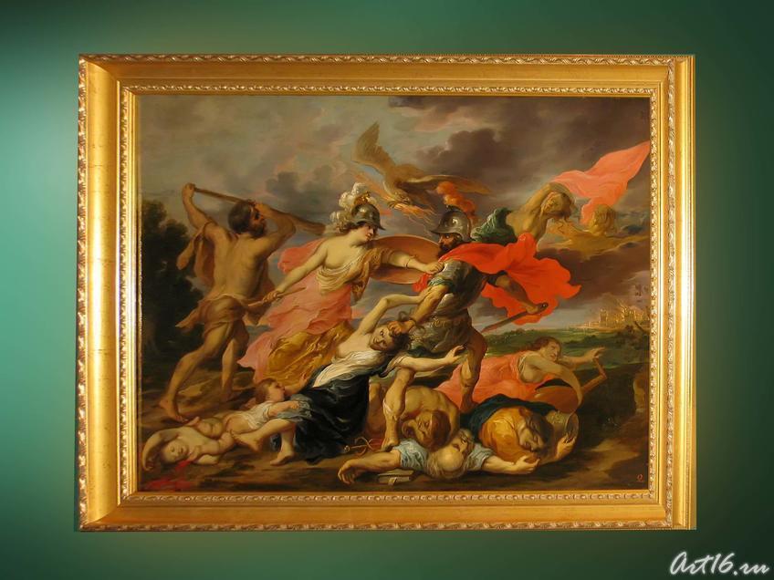 Фото №35634. Геркулес и Минерва, изгоняющие Марса. 1630-1640-е