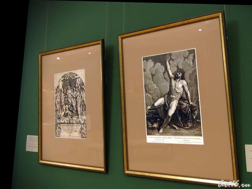 Юпитер в окружении других божеств с ветвями посвященных им деревьев в руках. 1547/Смерть Геракла. XVIII::Открытие выставки «Дети Богов»