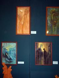 Фрагмент экспозиции выставки В. Аршинова