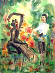 «Шурале», 1987. Иллюстрация к сказке Г. Тукая