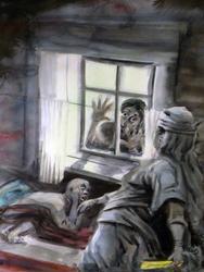 «Водяная», 1988. Иллюстрация к сказке Г. Тукая