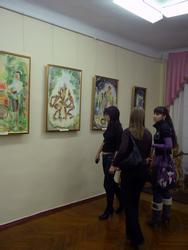 На выставке  Ренада Галимуллина «Мир Тукая»