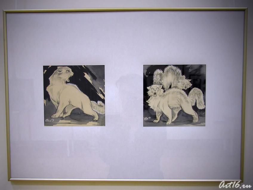 Иллюстрации к книге Г. Тукая  «Мияубике», 1940::Альменов Байназар Мустафьевич