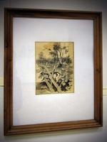 Иллюстрация к стихотворению Г. Тукая «Кэжэ турысында», 1945