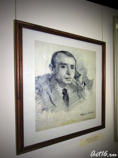 Портрет Сибгата Хакима. 1950::Альменов Байназар Мустафьевич