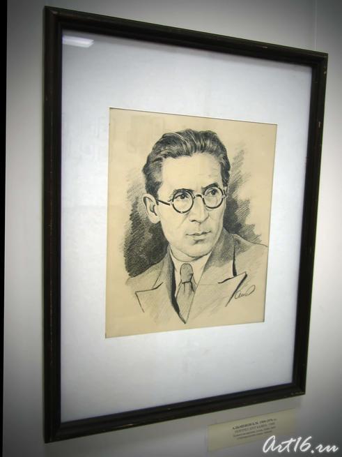 Портрет Нур Баяна. 1948::Альменов Байназар Мустафьевич