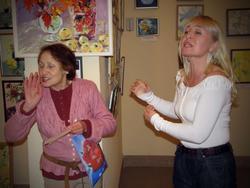 Миля Нуруллина принимает поздравления от учеников