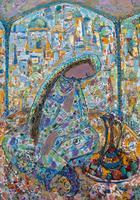 Триптих ТАПИР-ЗУХРА. 2010 Левая часть ТАТАР ИЛЕ Картон, масло