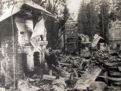 Руины дома И.Е. Репина. Июнь 1944