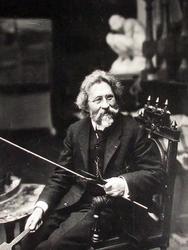 И.Е. Репин. 1909. Постановочная фотография