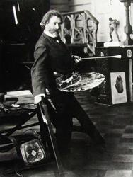 И.Е. Репин в мастерской в Пенатах. 1905