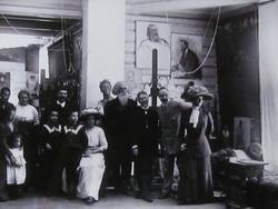 Гости в мастерской «Пенатов», декабрь, 1910