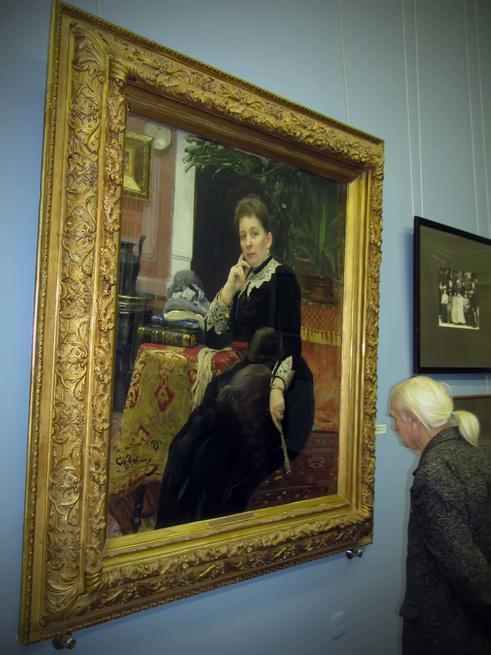 Портрет Ольги Сергеевны Александровой-Гейнс. 1890::Юбилейная выставка к 165-летию со дня рождения И.Е. Репина      холст, масло