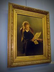 Читающая девушка. 1870