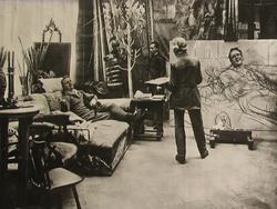 И.Е. Репин и Ф.И. Шаляпин. 1914