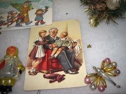 Новогодние открытки, елочные игрушки XX века