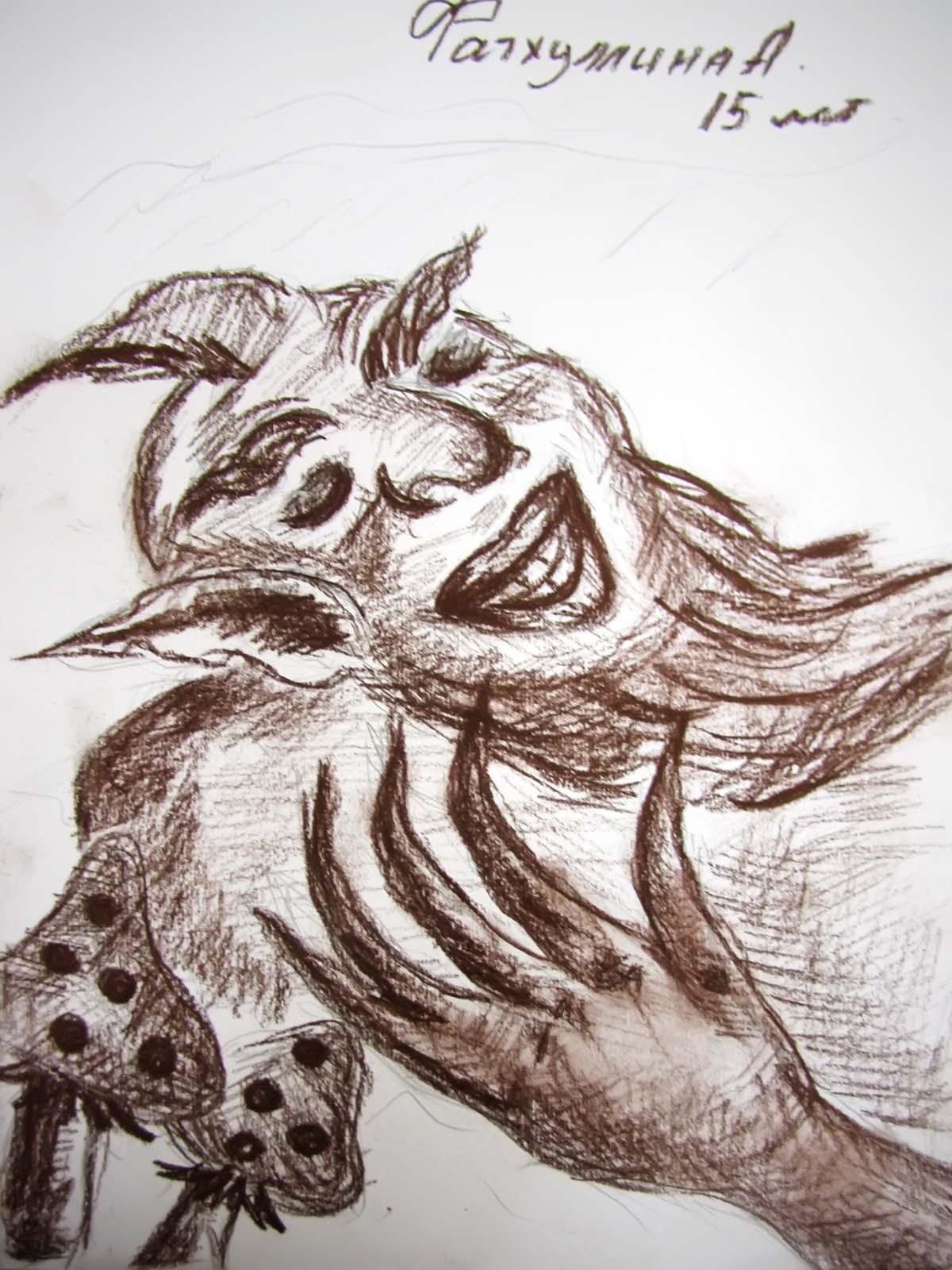 рисунок шурале габдулла тукай карандашом воздушного
