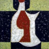 Натюрморт с бутылкой. Дополнительная форма. 1995