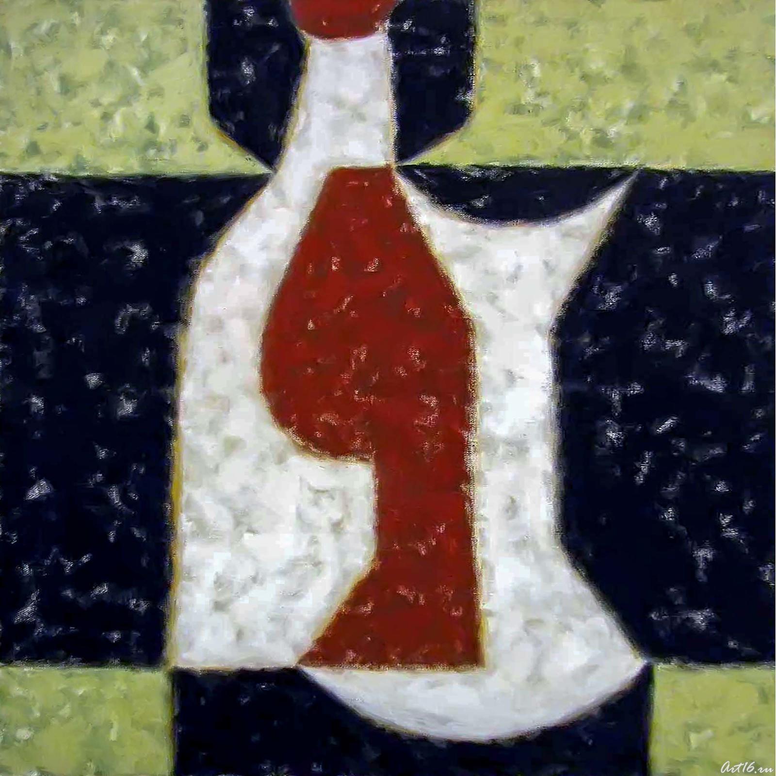 Фото №41493. Натюрморт с бутылкой. Дополнительная форма. 1995