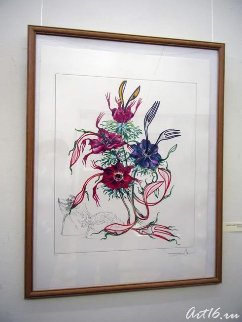 Сюрреалистический цветок. 1972::«Шедевры Сальвадора Дали. Скульптура и графика»