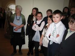 Школьники на открытии выставки «Времена года» в НМ РТ