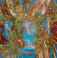 СКОБЕЕВ ЗЕМЛЯ - ВИТАЛИЙ ВАЛЕРЬЕВИЧ. 1968 г. Казань МЫСЛЯЩАЯ ПЛАНЕТА. 2012 Холст, масло