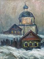 МУРАВЛЕВ АЛЕКСАНДР СЕРГЕЕВИЧ. 1947 Верхний Услон РТ ОДИНОЧЕСТВО Холст, масло