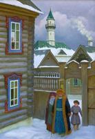 ЗАГИДУЛЛИН РАВИЛЬ ГАБДЕЛБАШИРОВИЧ 1969 г. Казань В СТАРО-ТАТАРСКОЙ СЛОБОДЕ. 2012 Холст, масло