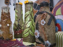 Декорированные вазы Алины Даминовой