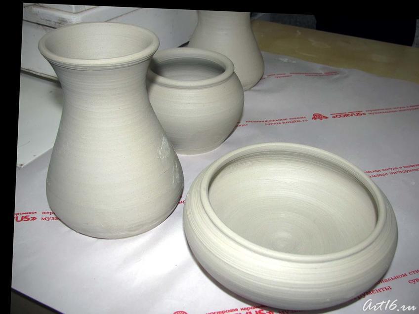 Фото №42611. Глиняная посуда, изготовленная на мастер-классах
