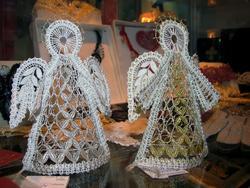 Кружевные объемные ангелочки