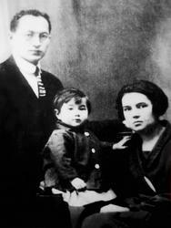 Галимзян Шараф с женой Асьмой и дочерью Юлдуз