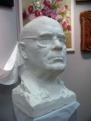 Скульптура Б. Урманче, салфетка с похорон