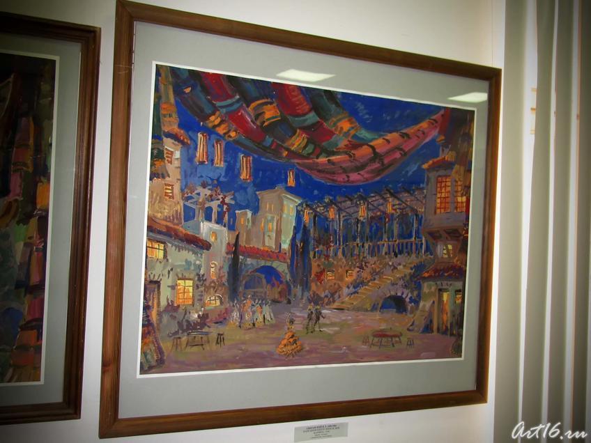 Фото №43850. Эскиз декораций к опере Ж.Бизе ''Кармен''. 1958