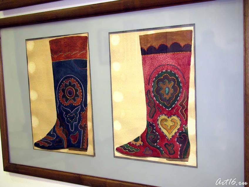 Фото №43895. Эскиз растительного орнамента для ичига
