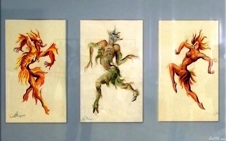 Балет ʺШуралеʺ. Эскизы костюмов. 1953::Сперанская Любовь Львовна