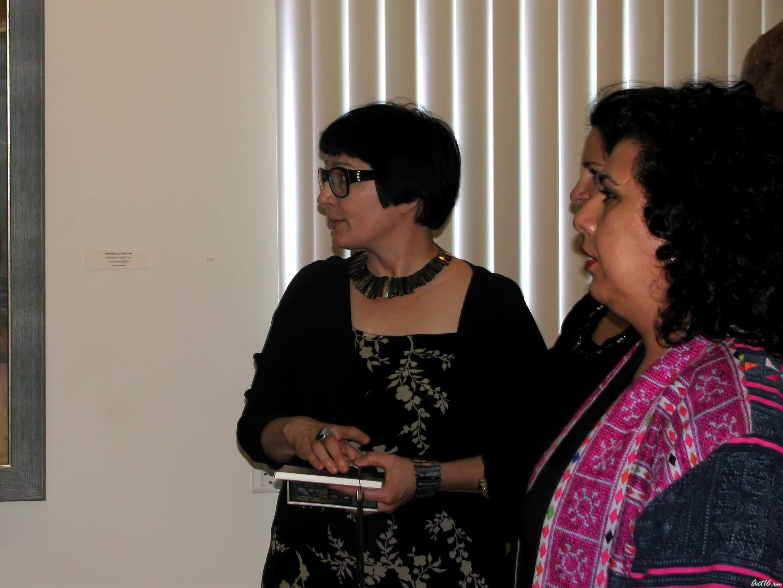 Розалия Нургалеева с гостьями::Визит в Республику Татарстан мусульманок Государства Кувейт
