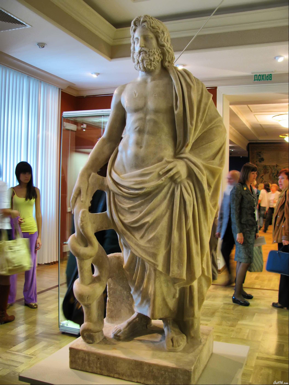 Статуя Асклепия::Открытие выставки «Дети Богов»