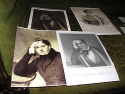 Портреты Е.А.Боратынского, написанные в разный период жизни