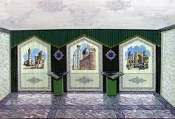 Эскизно-художественный проект витражей Музея Ш.Марджани в д.Комургузя Атнинского р. 2000